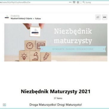 """""""Niezbędnik maturzysty"""" – repozytorium materiałów edukacyjnych dla uczniów dostępne w formie online"""