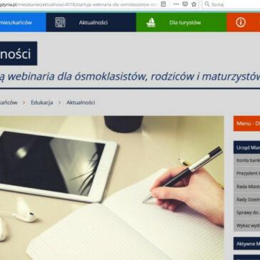 Webinaria ze wsparcia psychologicznego dla maturzystów – zaktualizowany harmonogram webinariów