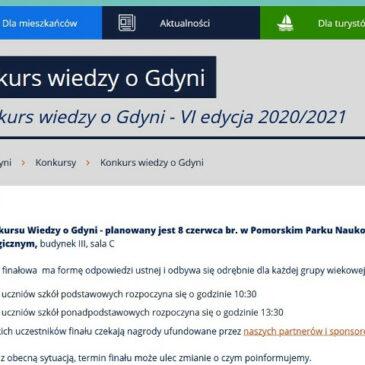 Sukces naszego ucznia w półfinale VI edycji Konkursu Wiedzy o Gdyni